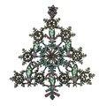 Presente papai noel Design exclusivo antigo chapeamento de Bronze de Metal floco de neve de natal broche árvore