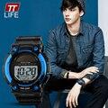 Homens TTLIFE Energia solar Esporte Relógios LED Digital Watch Moda Casual Ao Ar Livre Relógio de Pulso Relogio masculino Montre Homme