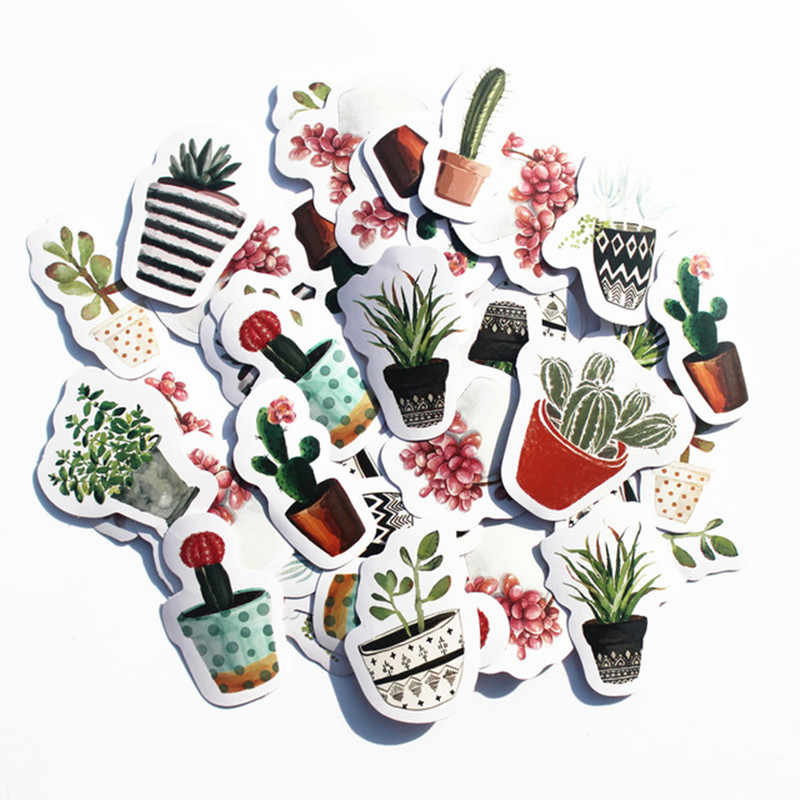 40 Pcs/pack Green Potted Classic Fashion Style Graffiti Stickers For Moto Car & Suitcase Cool Laptop Stickers Skateboard Sticker