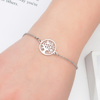 Bracelet En Argent Avec Arbre De Vie