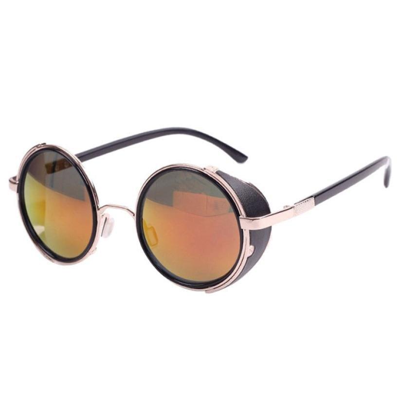 80dfda5823 Gafas de sol para las mujeres hombres espejo lente ronda gafas de Cyber  Goggles Steampunk gafas de sol Vintage Retro oculos de sol feminino A0 -  a.samuelk. ...