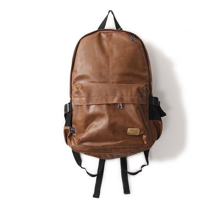 Fashion Brand Men's Backpack PU Leather Backpacks Male School Bag Laptop Backpack Man Black/Brown Waterproof Travel Backpack X57