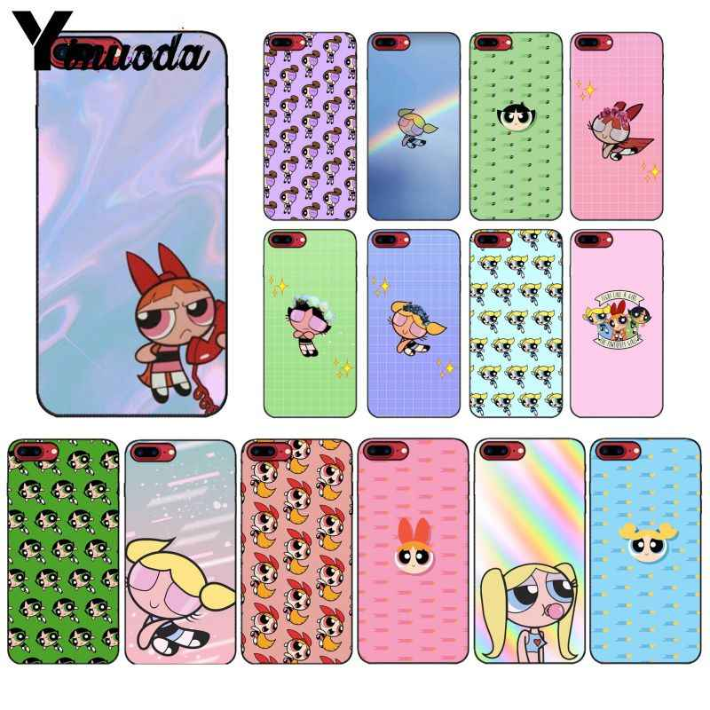 Мягкий чехол для телефона Yinuoda PowerPuff Girls Z с узором из ТПУ для iPhone 8 7 6 6 S 6 Plus X XS MAX 5 5S SE XR
