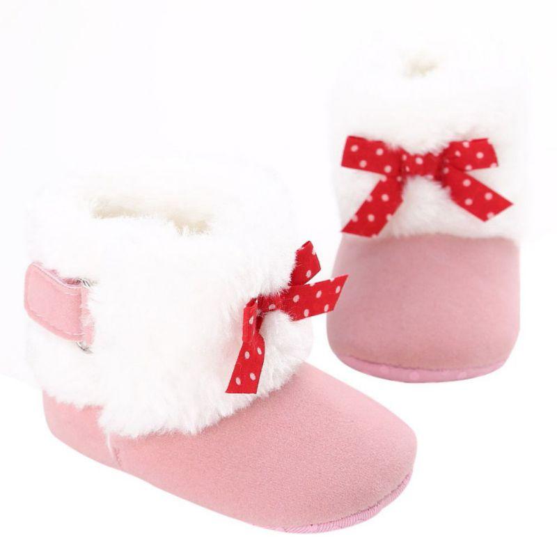 16197ac56 الشتاء السوبر الدافئة الوليد فتاة prewalker الطفل أحذية الرضع طفل الأميرة  سرير الغنيمة الطفل الأخفاف الأحذية الثلوج