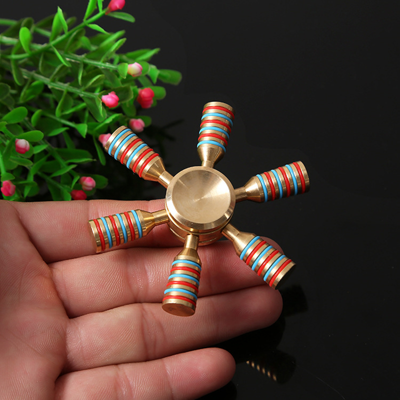 Stress Relief Toy Symbol Of The Brand Rctown Hot Fidget Spinner Edc Hand Spinner With Six Metal Beads Stress Anxiety Reducer Add Toy For Kids And Adult Qd30