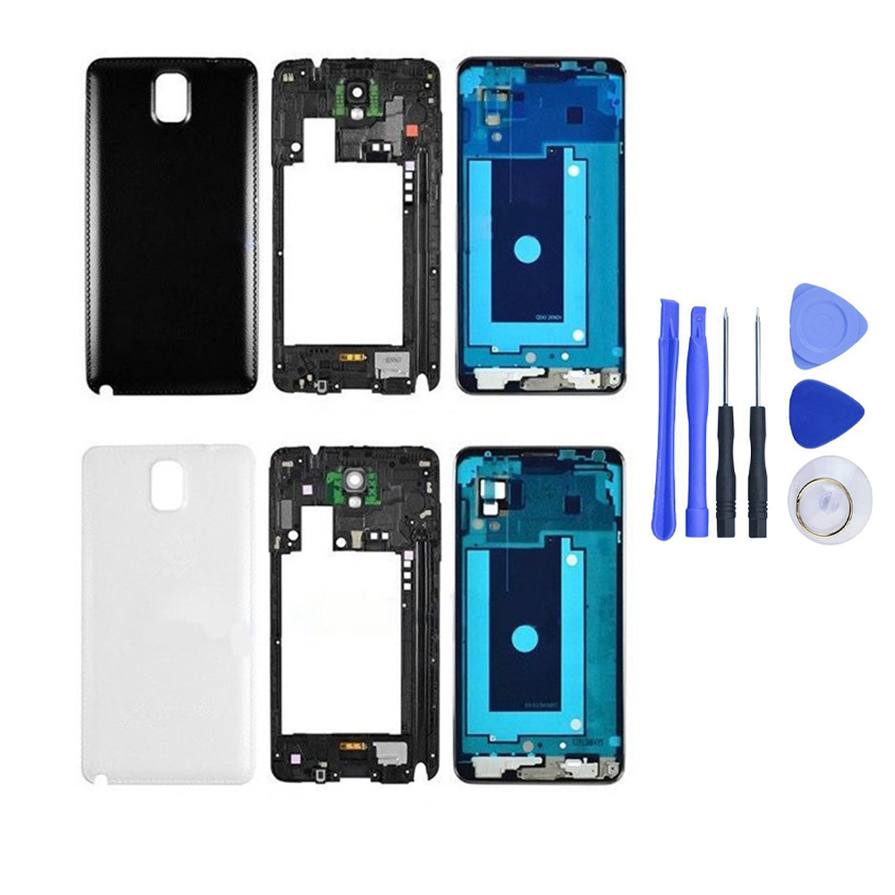 Replacement For Samsung Galaxy Note 3 N900 N9005 Full Housing Cover Case Middle Frame Battery Door