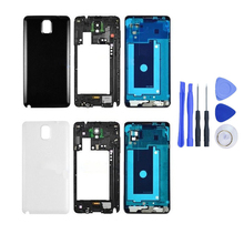 Replacement For Samsung Galaxy Note 3 N900 N9005 Full Housing Cover Case & Middle Frame & Battery Door+Free Tools, Free Shipping