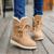 Mujer en el tubo de botas de invierno de la manera más caliente dulce estudiante cómoda plana botas cortas con botas de algodón zapatos de encaje