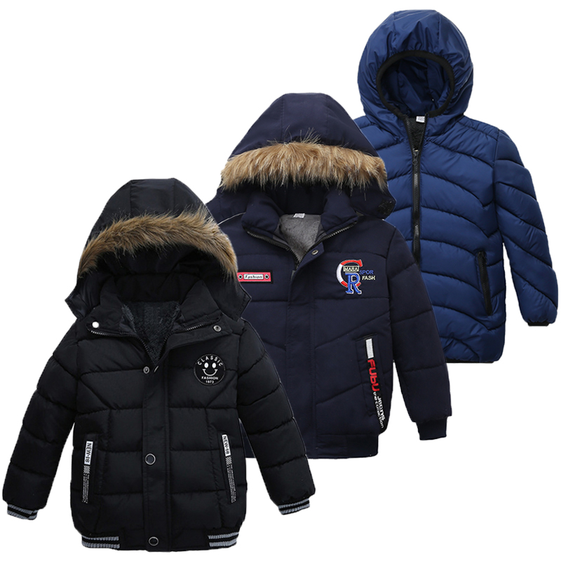Winter Jacket Coat Outerwear Hooded Warm Baby-Boys Autumn Kids for Children 2-3-4-5-Year