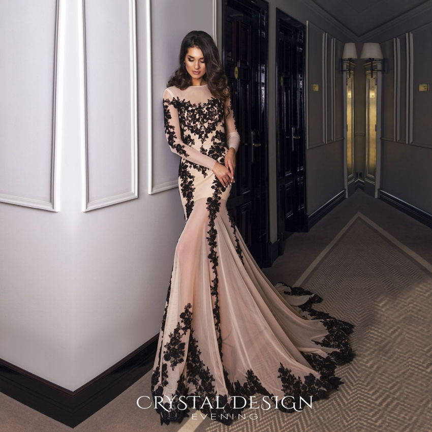 See Through Nude Tulle Prom Dresses Formal Evening Gowns ...