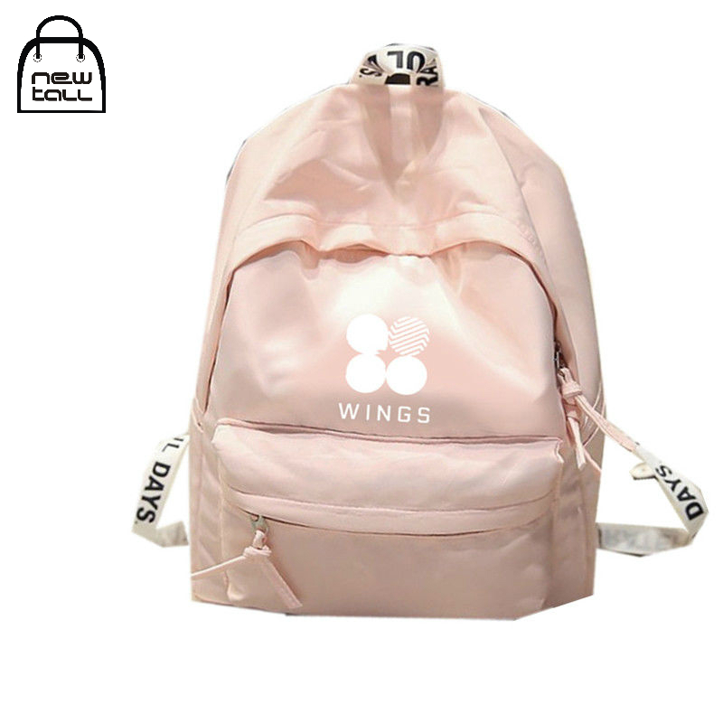 Newtall 2018 Kpop BTS Backpack Bangtan Boys Shoulder Bookbag Student Back to School Bag For Teen Girls Fashion Simple Cute New bts kpop pu kpop bangtan boys schoolbag women bookbag shoulder bts exo xxoo got7 b a p bigbang tourism student canvas