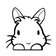 hot deal buy 12.7cm*11.6cm lovely rabbit cartoon funny car decal stickers exterior accessories car styling