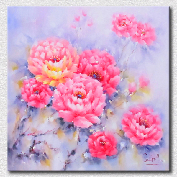 Pastel colorful flowers oil painting high quality reproduction oil painting on canvas wall art for kids room dcoration in painting calligraphy from home