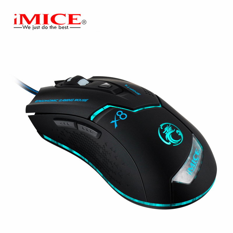 IMice Gaming Mouse Gamer Computer Mouse 3200DPI Ergonomic Mouse Wired 6 Buttons Mause Computer With Cable PC Mice Game Mice