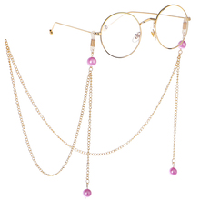 Vintage Womens Fashion Pearl Chains Ladies Sunglasses Rope Lanyards Travel Party Banquet Spectacles Accessories 80cm Chain N9