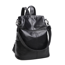 SUONAYI Brand Fashion Women Backpacks Rivet Black Soft Washed Leather Bag Schoolbags For Girls Female Leisure Bag mochilas cool walker women backpack leisure travel package black pu leather bag schoolbags for girls female leisure bag mochilas feminina