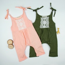 Everweekend Ins Baby Girls Lace Halter Summer Green Pink