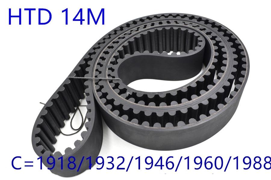 HTD 14M synchronous belt C=1918/1932/1946/1960/1988 width 30mm/40/50mm Teeth 137 138 139 140 142 HTD14M 1932-14M 1960-14MHTD 14M synchronous belt C=1918/1932/1946/1960/1988 width 30mm/40/50mm Teeth 137 138 139 140 142 HTD14M 1932-14M 1960-14M