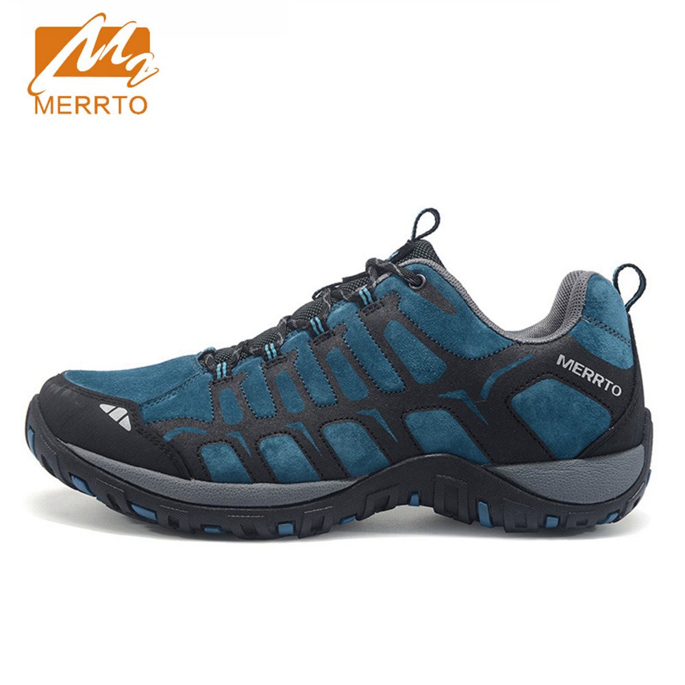 2018 Merrto Lovers Walking Shoes Outdoor Sports Shoes Travel Shoes First Leather For Lovers Free Shipping MT18607/MT18608 2018 merrto womens outdoor walking sports shoes breathable non slip travel shoes for women purple rose red free shipping mt18665