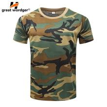 Уличная Тактическая Военная камуфляжная Футболка Мужская дышащая американская армейская Боевая футболка быстросохнущая камуфляжная верхняя одежда Camp Tees