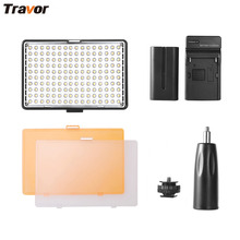The Travor Регулируемый 160 ШТ. LED 11 Вт 160 г Видео Видеокамер Камеры Горячий Башмак Лампы