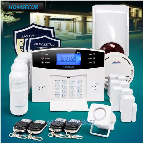 HOMSECUR Wireless&wired 433Mhz GSM SMS Autodial Burglar Intruder Alarm System(available shipment from EU) цена