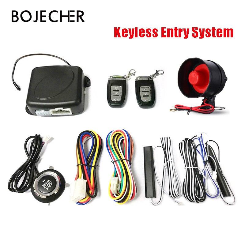 Démarreur automatique de moteur de bouton d'arrêt de démarrage de système d'entrée sans clé de PKE de voiture avec le système d'alarme à distance de voiture de clé