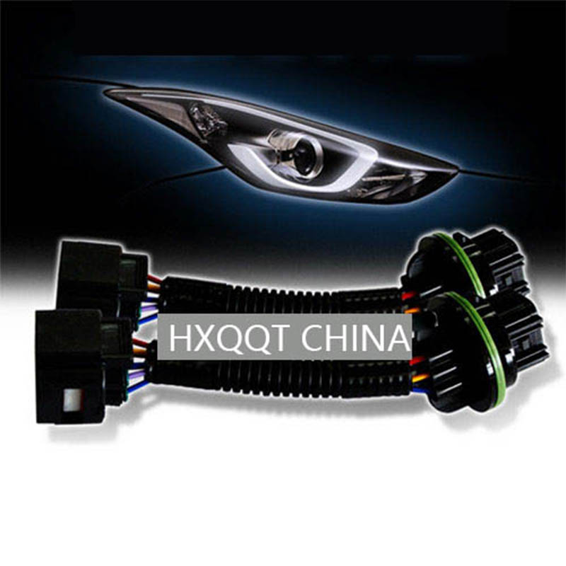2pcs Adapter For Connecting Headlights With Diode DRL (921013X400) FOR HYUNDAI  Elantra Accent 10-13 921023X400 Front Lighting