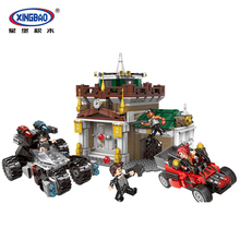 XINGBAO 10003 City Police Series The Museum Robber Set Scenes Building Blocks Police Station With Cars Bricks Educational Toys zxz 02006 815pcs city police series the prison island set building blocks bricks educational toys for children gift legoingse