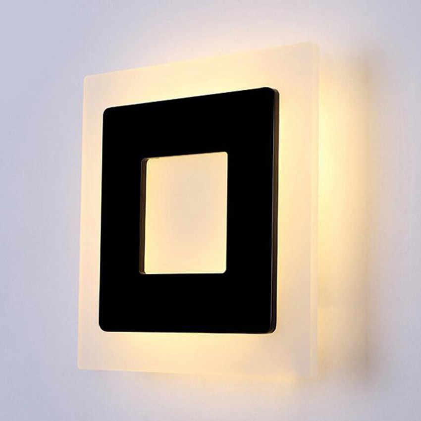 18 Вт СВЕТОДИОДНЫЕ Акриловые Настенные светильники AC85-265V, Современные Простые светильники для спальни, освещение для столовой, коридора, алюминиевые настенные бра NR13