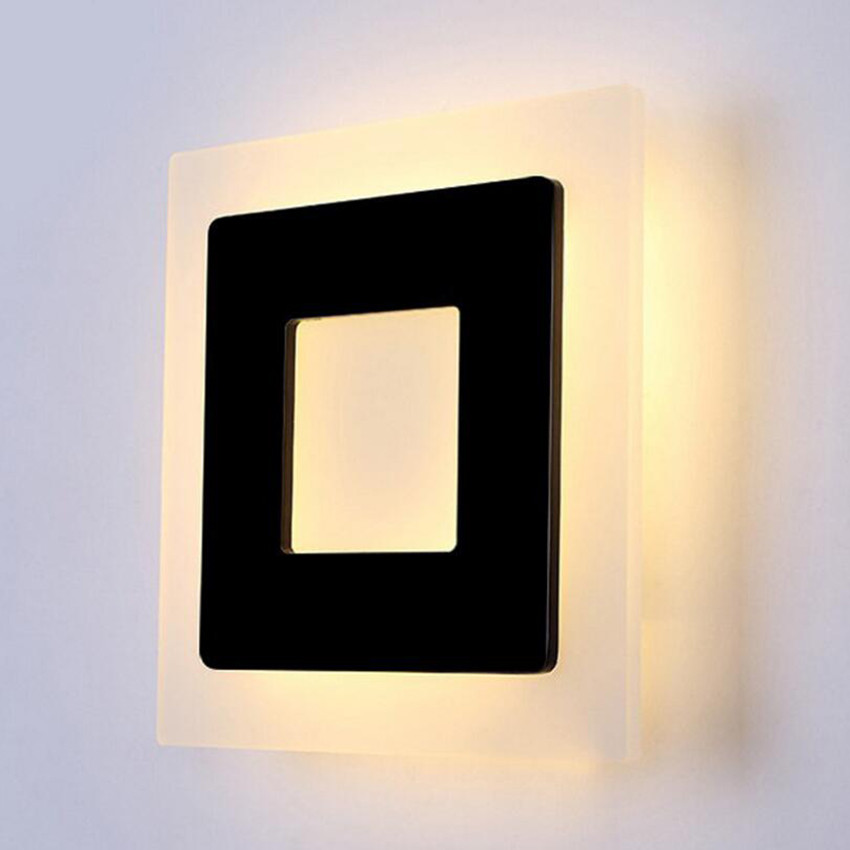 Image 5 - 18w Led Acrylic Wall Lamps AC85 265V Modern Simple Bedroom Lights Indoor Dining room Corridor Lighting Aluminum Wall Sconce NR13-in LED Indoor Wall Lamps from Lights & Lighting