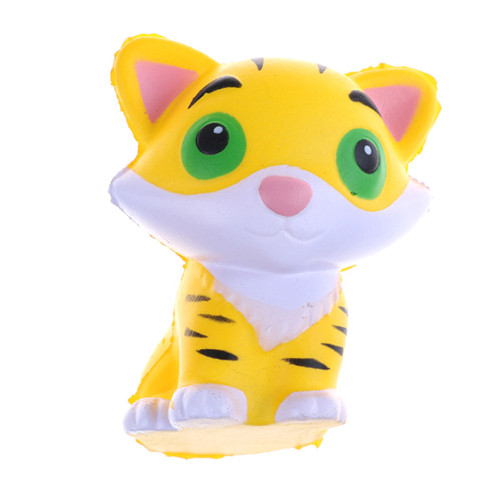 Orderly Kawaii Tiger Squeeze Jumbo Squishy Bread Soft Scented Cake Toys Doll Gift Super Slow Rising Animal Phone Straps Street Price Cellphones & Telecommunications Mobile Phone Straps