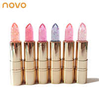 NOVO Brand Jelly lipstick makeup Magic Temperature Changing Color Korean style color tint lip stick lasting waterproof lip balm