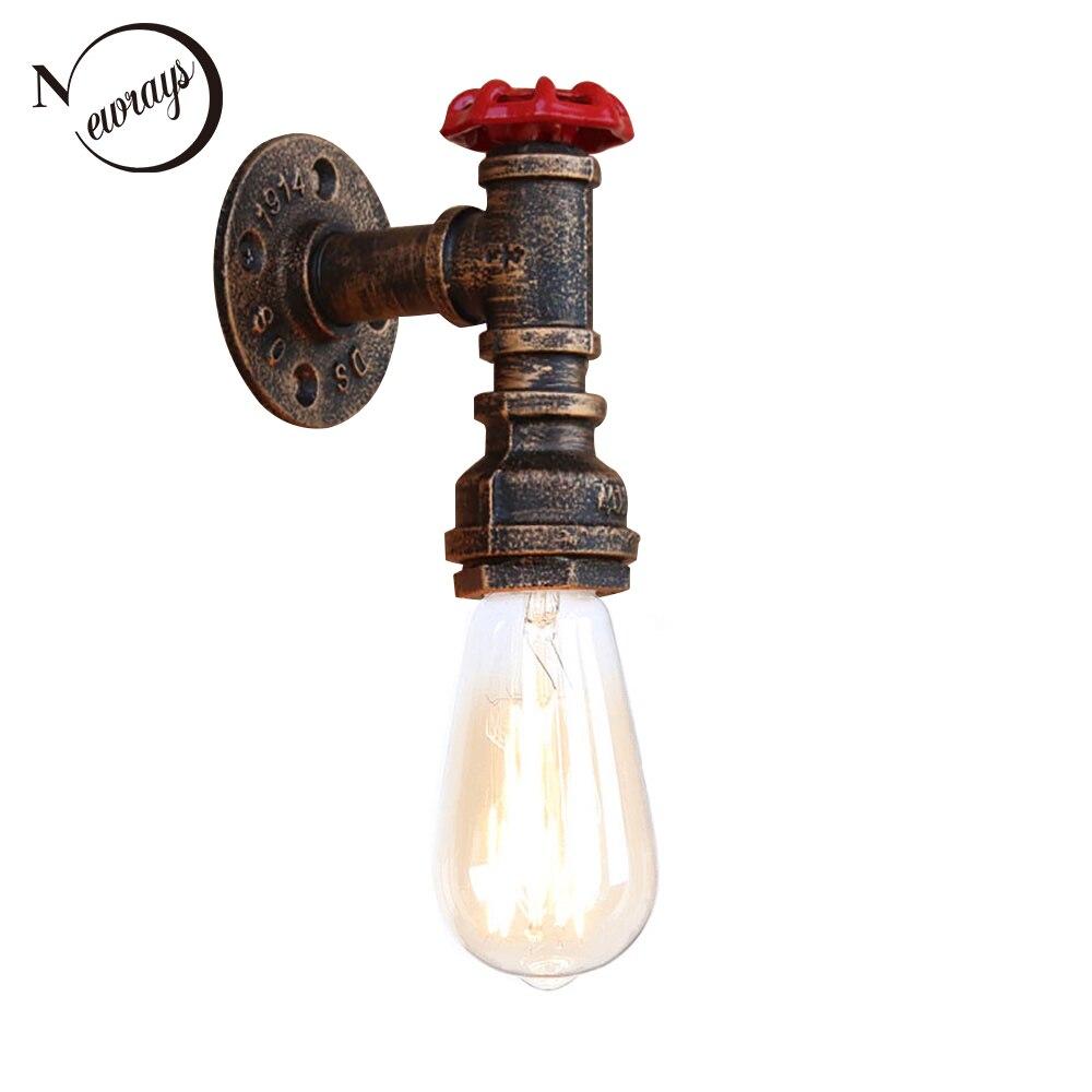 Vapeur punk Loft Industriel fer rouille conduite D'eau rétro mur lampes Vintage E27 LED applique appliques murales pour salon chambre bar