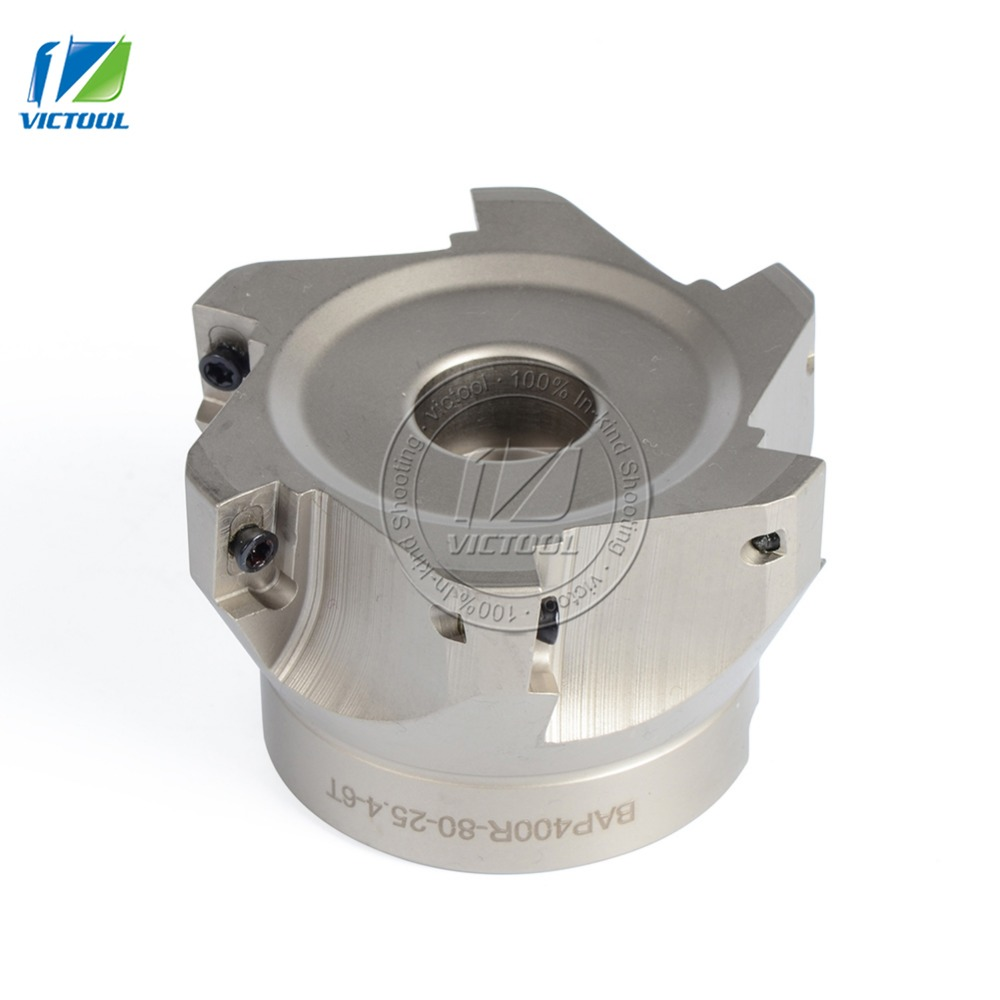 Free Shiping BAP400R*80*25.4*6T Milling tool For milling insert APMT1604 Face Mill Shoulder Cutter