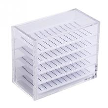 False eyelash storage case 5-layer acrylic holder for extension single volume display support tools