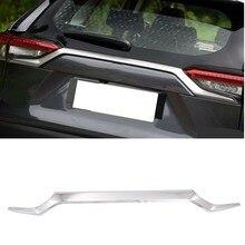 اكسسوارات السيارات التصميم لتويوتا RAV4 2019 2020 abs السيارات الديكور الخلفي الجذع غاسل الذيل بوابة غطاء الكسوة 1 قطعة
