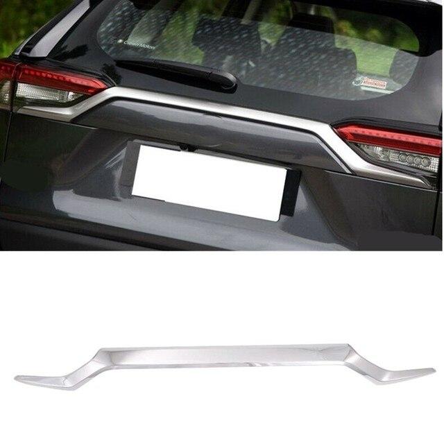 Аксессуары автомобильный Стайлинг для TOYOTA RAV4 2019 2020 abs авто украшение задний багажник стример задняя крышка ворота Отделка 1 шт