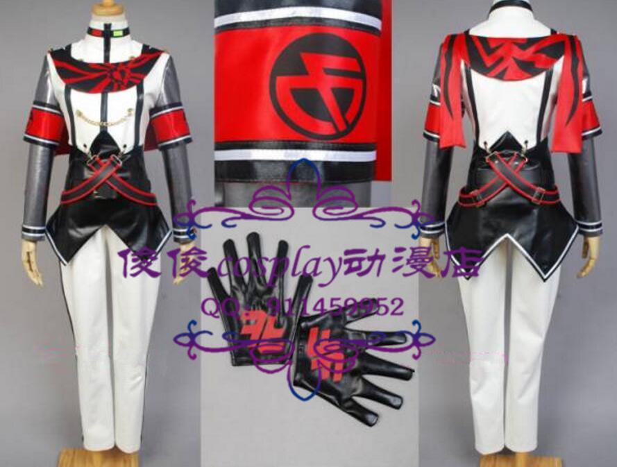 Vocaloid проекта DIVA f Kaito общие форма (недовольны воздерживаться) Косплэй костюм наряд весь набор