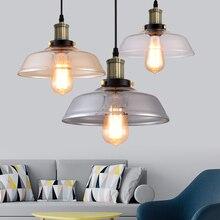 Cam kolye ışık açık renk, amber rengi, gri renk seçmek için vintage cam kolye lambaları edison kolye ışıkları 110V 220V