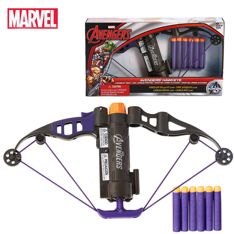 Marvel Avengers Hawkeye Longshot Bow Clinton Francis Barton Toy Gun Bullets Action Figure Birthday Gift Toy For Children Kid BoyAction & Toy Figures   -