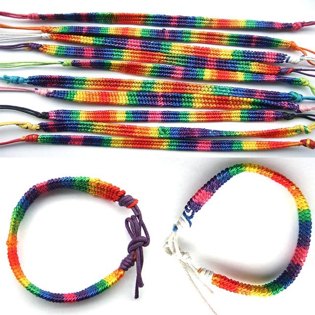 5pcs Handmade Rasta Hippie Bracelets Jamaican Woven Friendship Bracelet Drop Shipping