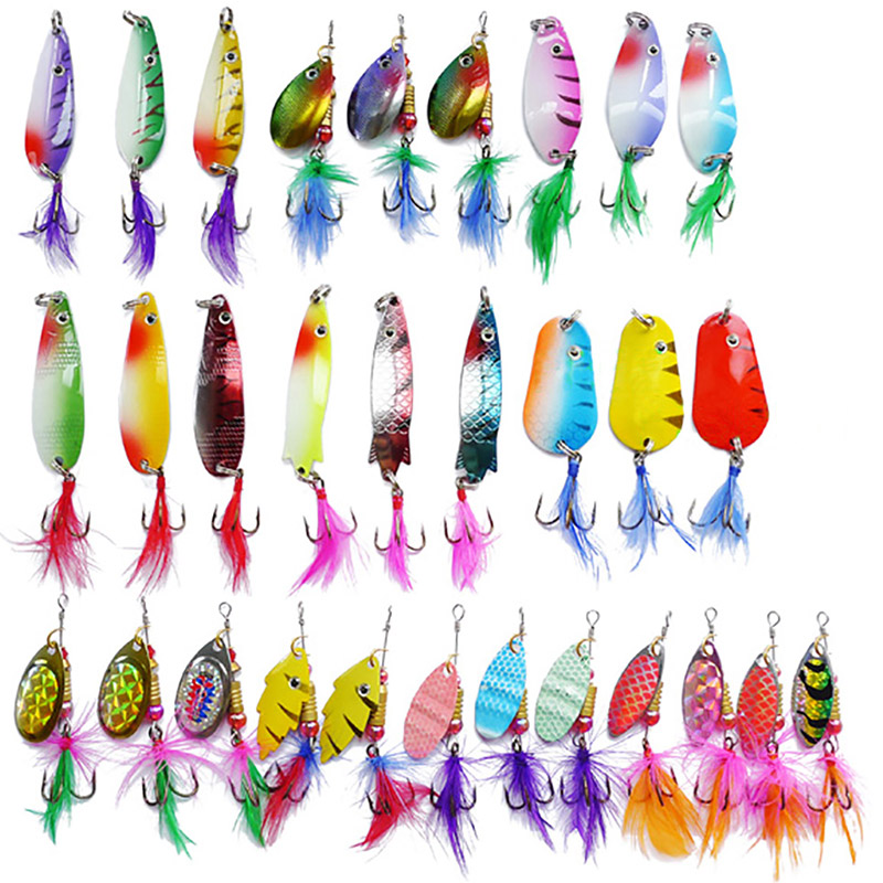 Fishing Spinners Metal Lure Artificial Hook Jig Spoon Bait Hard Wire bait Wobbler Saltwater Trout Shad Fishing Tackle Pesca Set wldslure 4pcs lot 9 5g spoon minnow saltwater anti hitch crankbait hard plastic plainting fishing lures bait jig wobbler lure