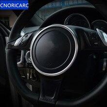 CNORICARC алюминиевый сплав Руль кольцо украшения Обложка отделка салона аксессуары Декали для Porsche Panamera Cayenne