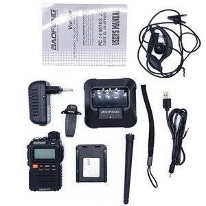 Image 3 - Baofeng UV 3R בתוספת ווקי טוקי UHF VHF מיני UV 3R + נייד CB רדיו VOX פנס FM משדר רדיו חם amador UV3R