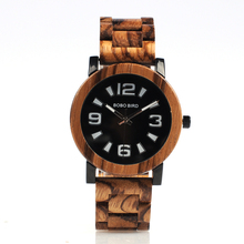 BOBO BIRD CdO21-O22 Big Digital Scale Cool Men's Quartz Wooden Watches with Brand Layout Clocks in Wooden Box