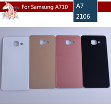 For Samsung Galaxy A710 A710F A7100 A7 2016 Housing Battery Cover Door Rear Chassis Back Case Housing Glass Replacement for samsung galaxy a710 a710f a7100 a7 2016 housing battery cover door rear chassis back case housing glass replacement
