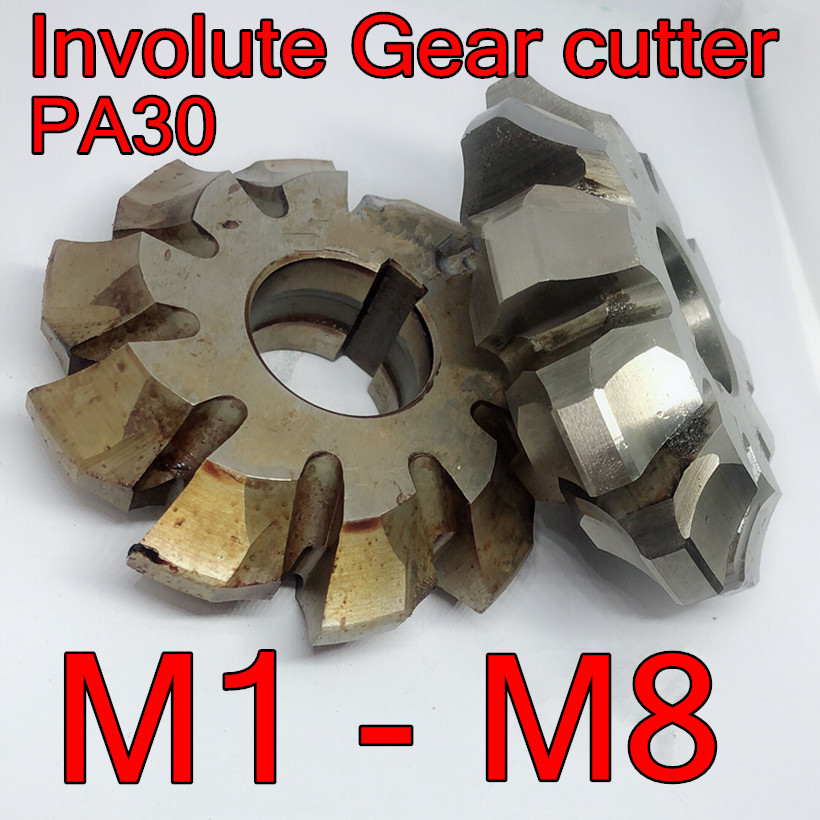 M1 M1.5 M2 M2.5 M3 M4 M5 M6 M8 HSS M2 Involute Gear Cutters PA 30degrees 1pcs Use More Than 12 Teeth. Free Shipping