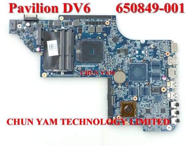 Comercio al por mayor placa madre del ordenador portátil 650849-001 para hp pavilion dv6 dv6-6000 notebook pc placa base 100% probado garantía 90 días