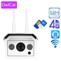 OwlCat Full HD 1080P 960P Double Antenna 3G 4G Phone SIM Card SD Card Outdoor Bullet